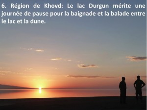 extension des voyage en Mongolie de l'Ouest, lac Durgun